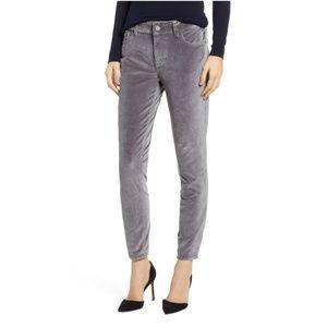 DL1961 Florence Instasculpt Velveteen Gray Jeans